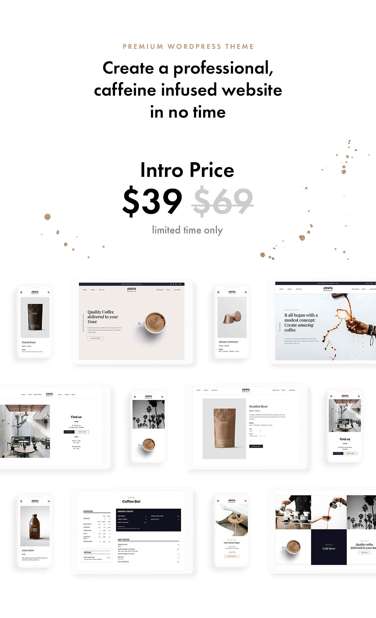 Coffee Bean - Cafe, Coffee Shop, Roastery & Bakery WordPress Theme - 1
